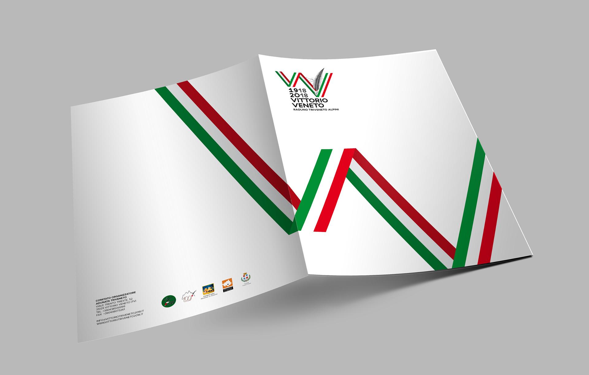 Immagine coordinata cartellina Raduno Triveneto Alpini | Kora Comunicazione