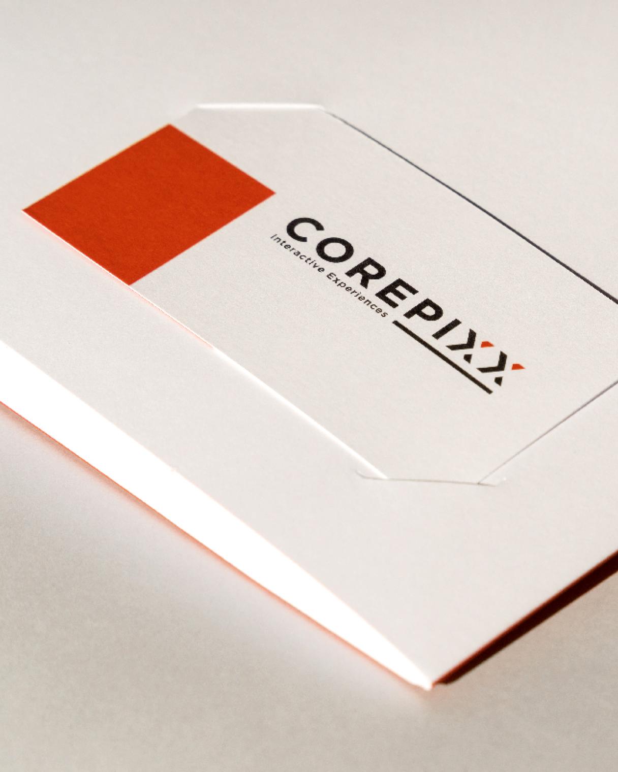 Immagine coordinata biglietti da visita Corepix | Kora Comunicazione