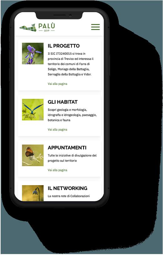 Realizzazione sito mobile PALU QdP | Kora Comunicazione