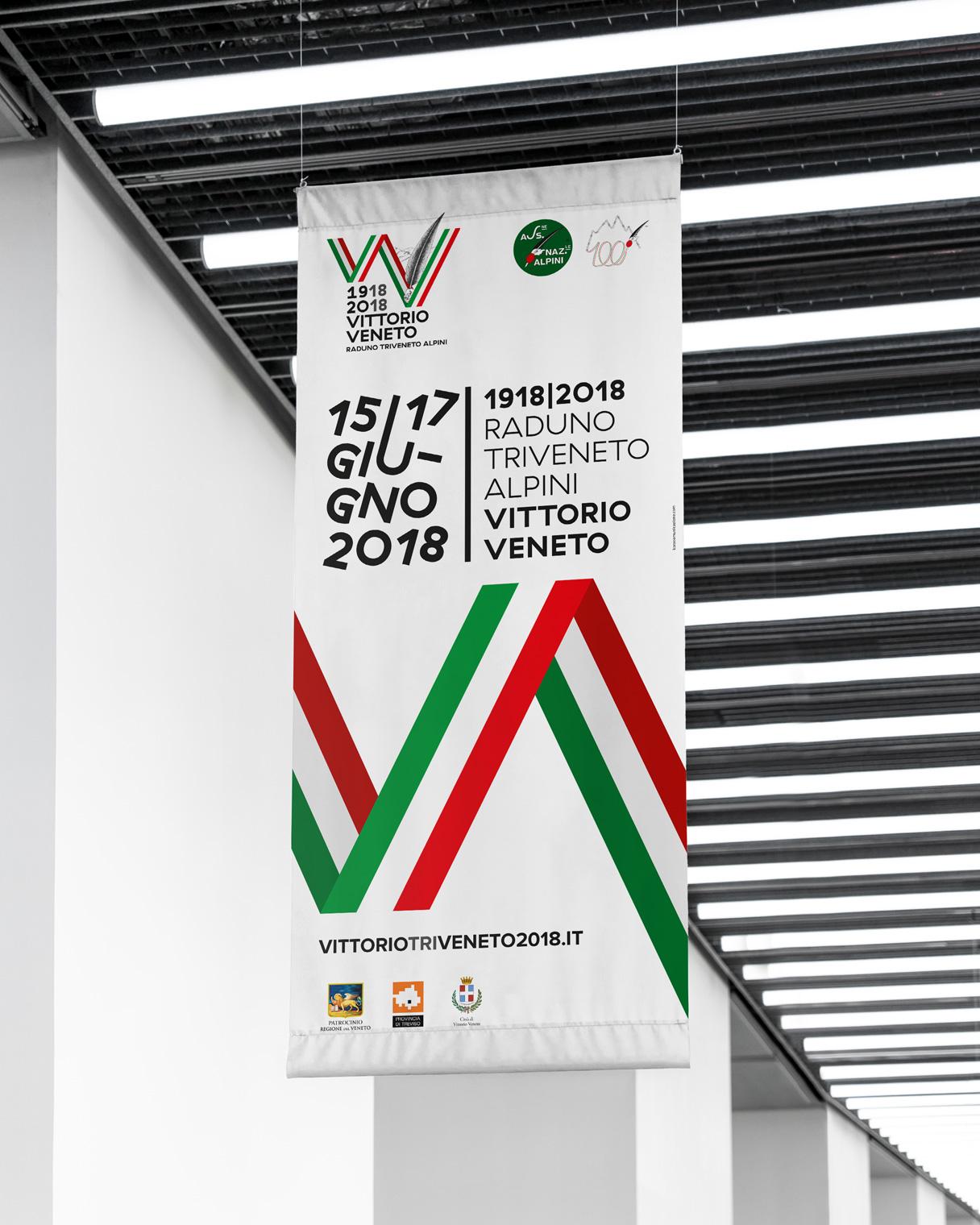 Progettazione grafica banner Raduno Triveneto Alpini | Kora Comunicazione