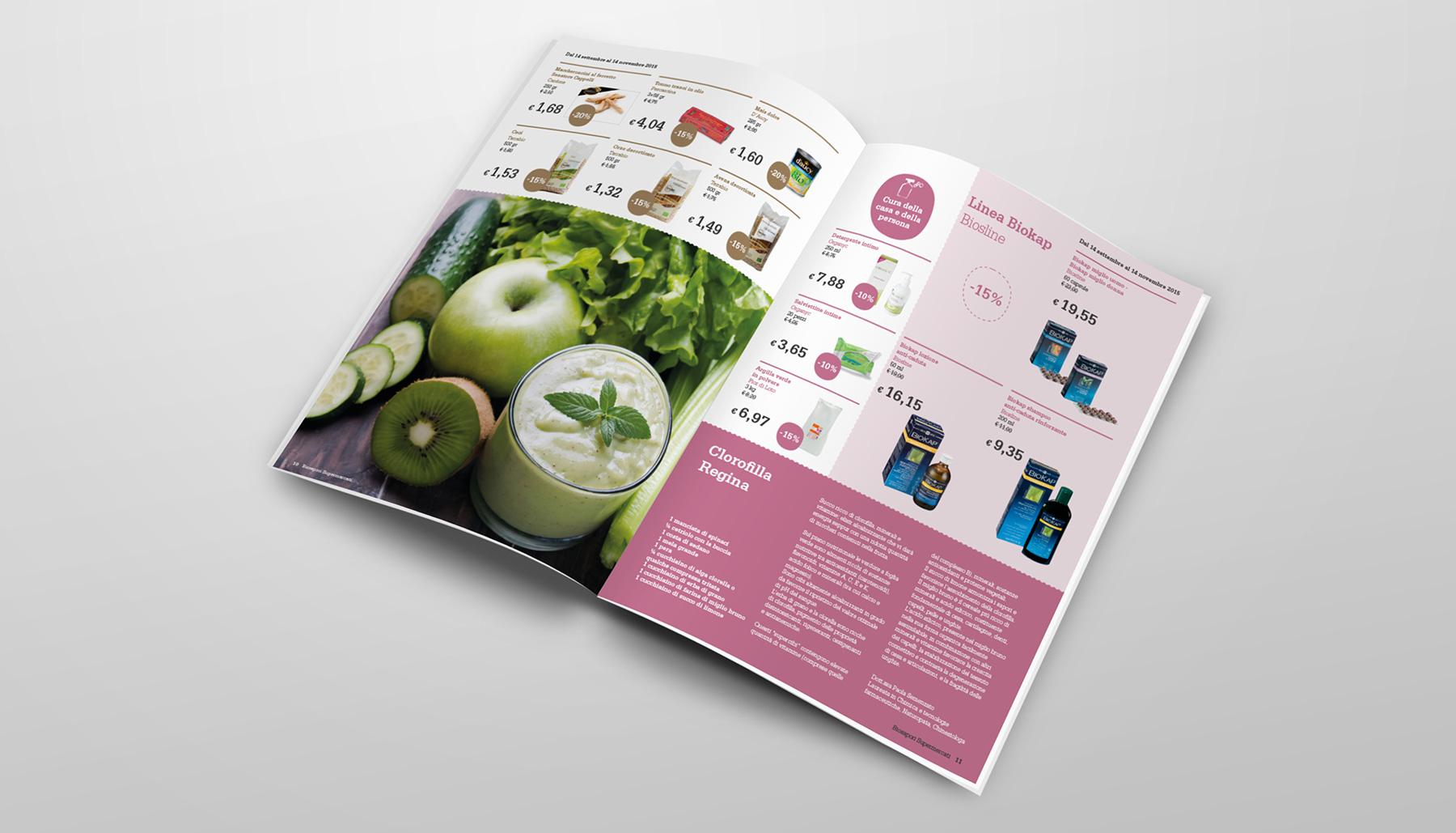 Progettazione grafica magazine Biosapori | Kora Comunicazione