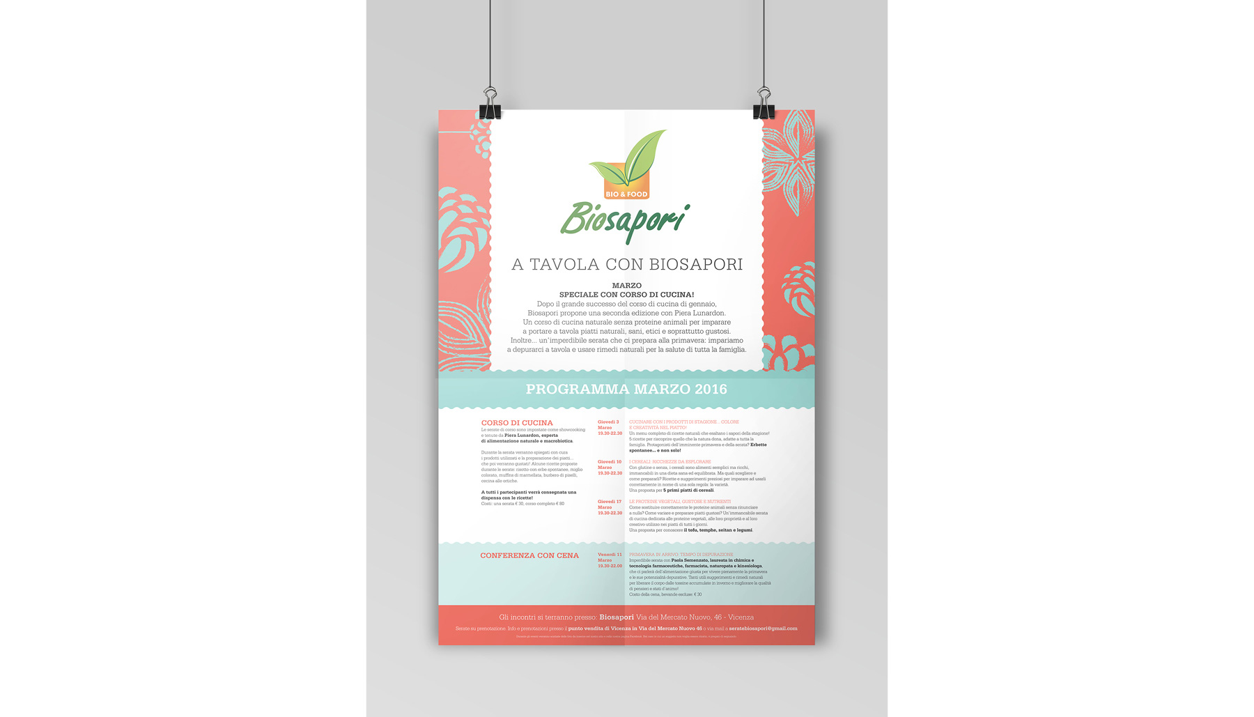 Progettazione grafica poster Biosapori | Kora Comunicazione