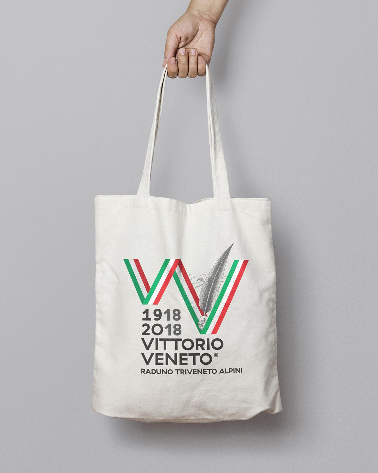 Progettazione grafica shopper Raduno Triveneto Alpini | Kora Comunicazione