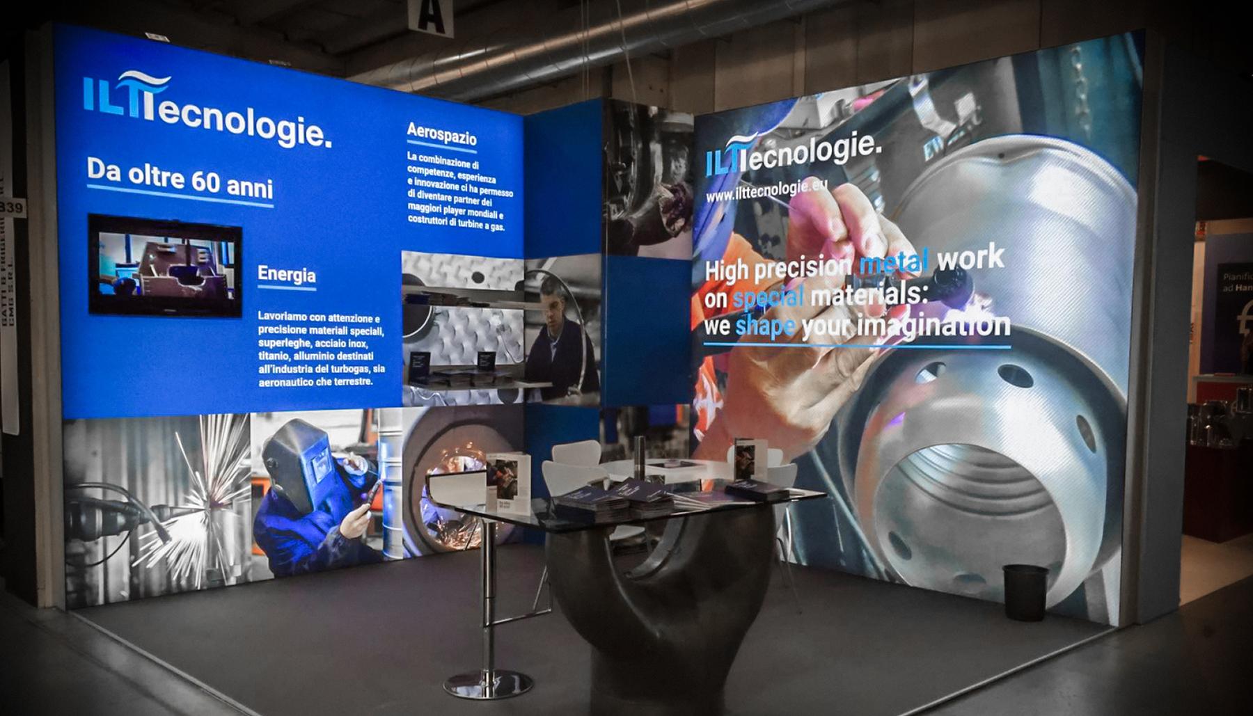 Progettazione grafica stand ILT Tecnologie   Kora Comunicazione