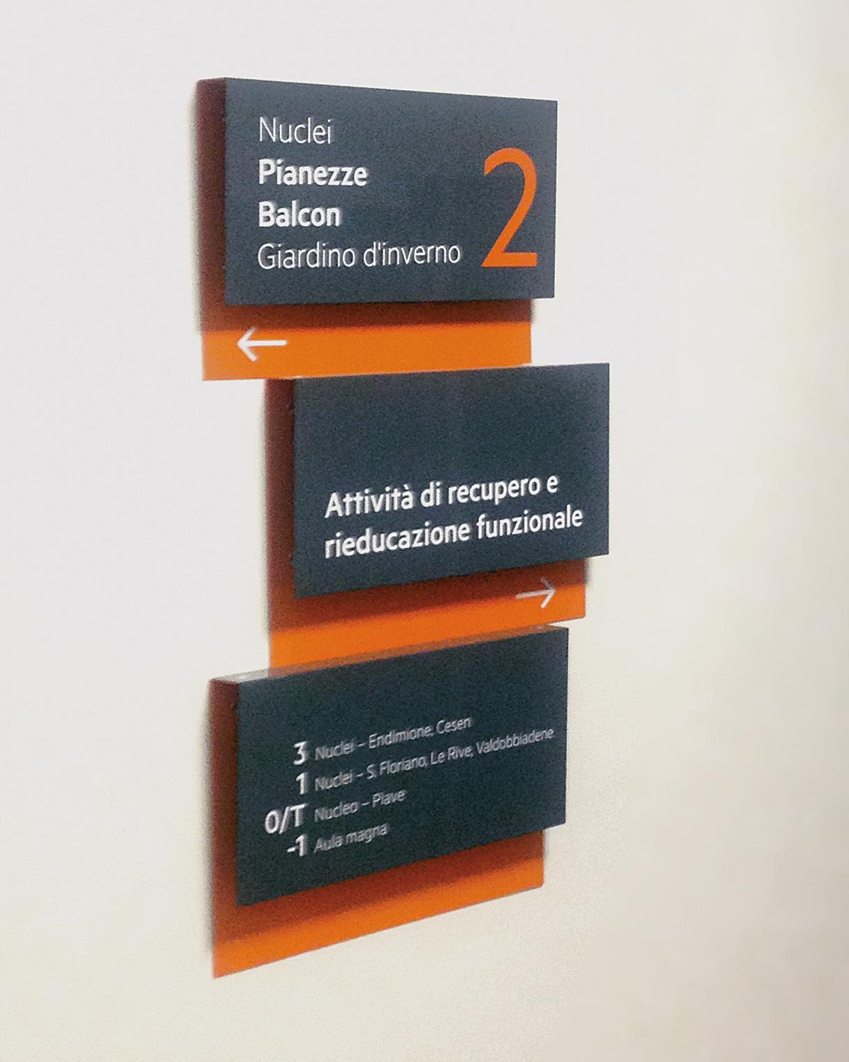 Segnaletica aziendale Istituti San Gregorio | Kora Comunicazione