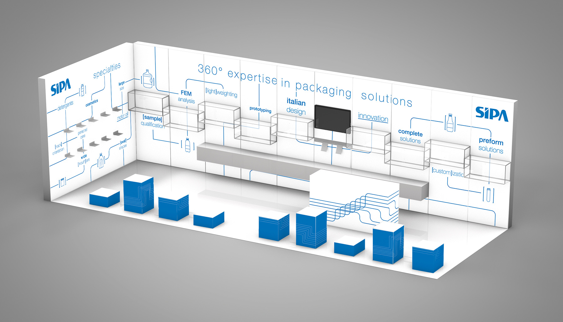 Showroom aziendale 3d SIPA | Kora Comunicazione