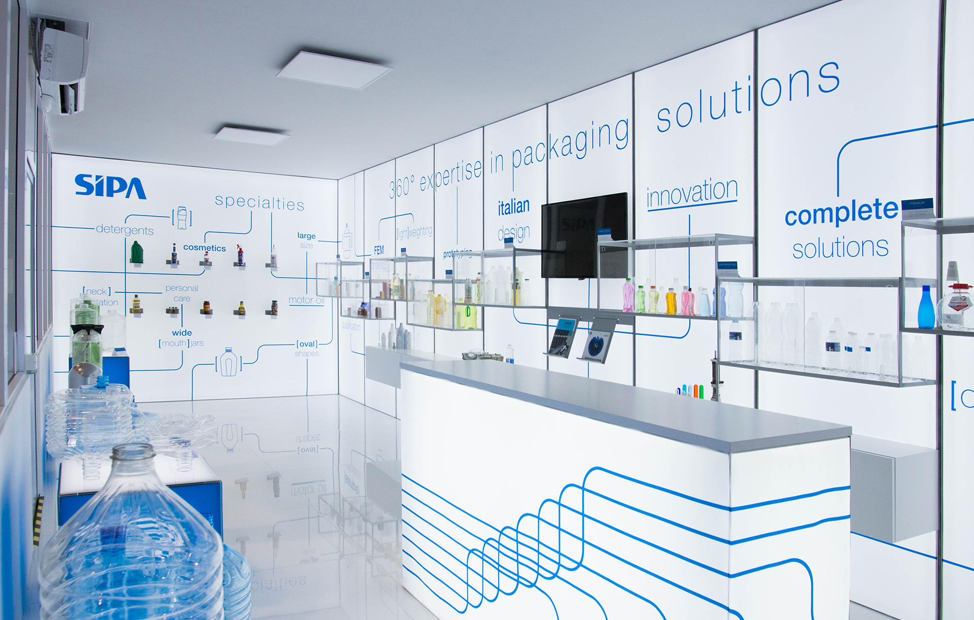 Progettazione showroom SIPA | Kora Comunicazione