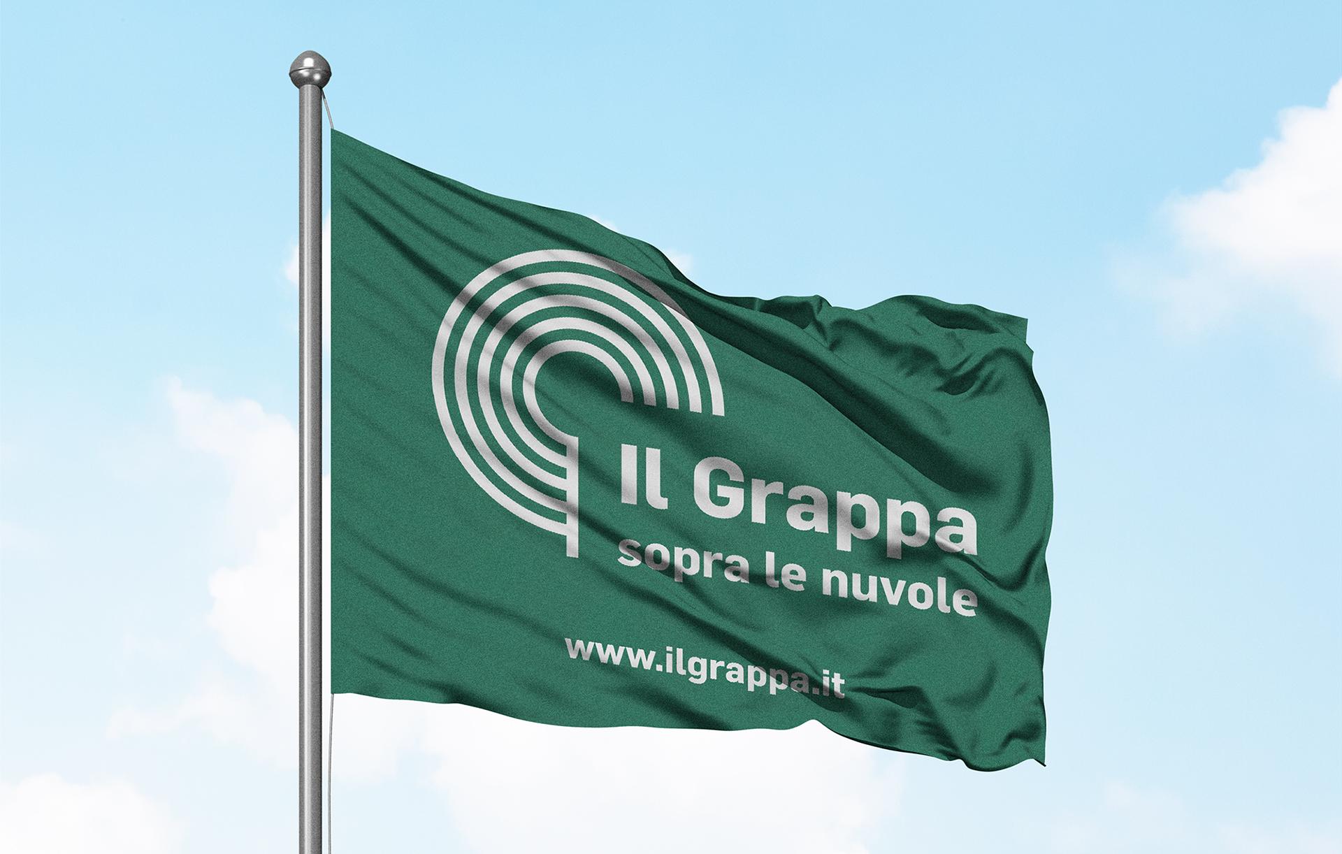 Strategia di marketing territoriale bandiera Il Grappa | Kora Comunicazione