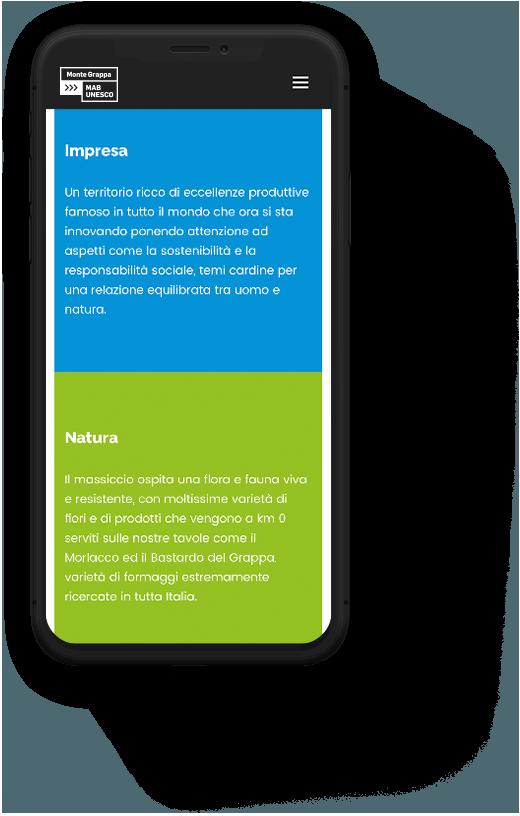 Strategia di marketing territoriale sito mobile Il Grappa | Kora Comunicazione