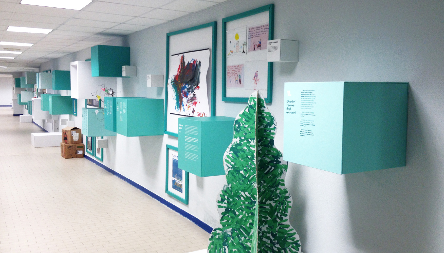 Allestimento mostra Ospedale riabilitativo Motta | Kora Comunicazione