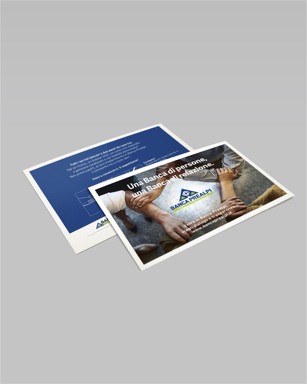Ideazione campagne pubblicitarie flyer Banca Prealpi SanBiagio | Kora Comunicazione