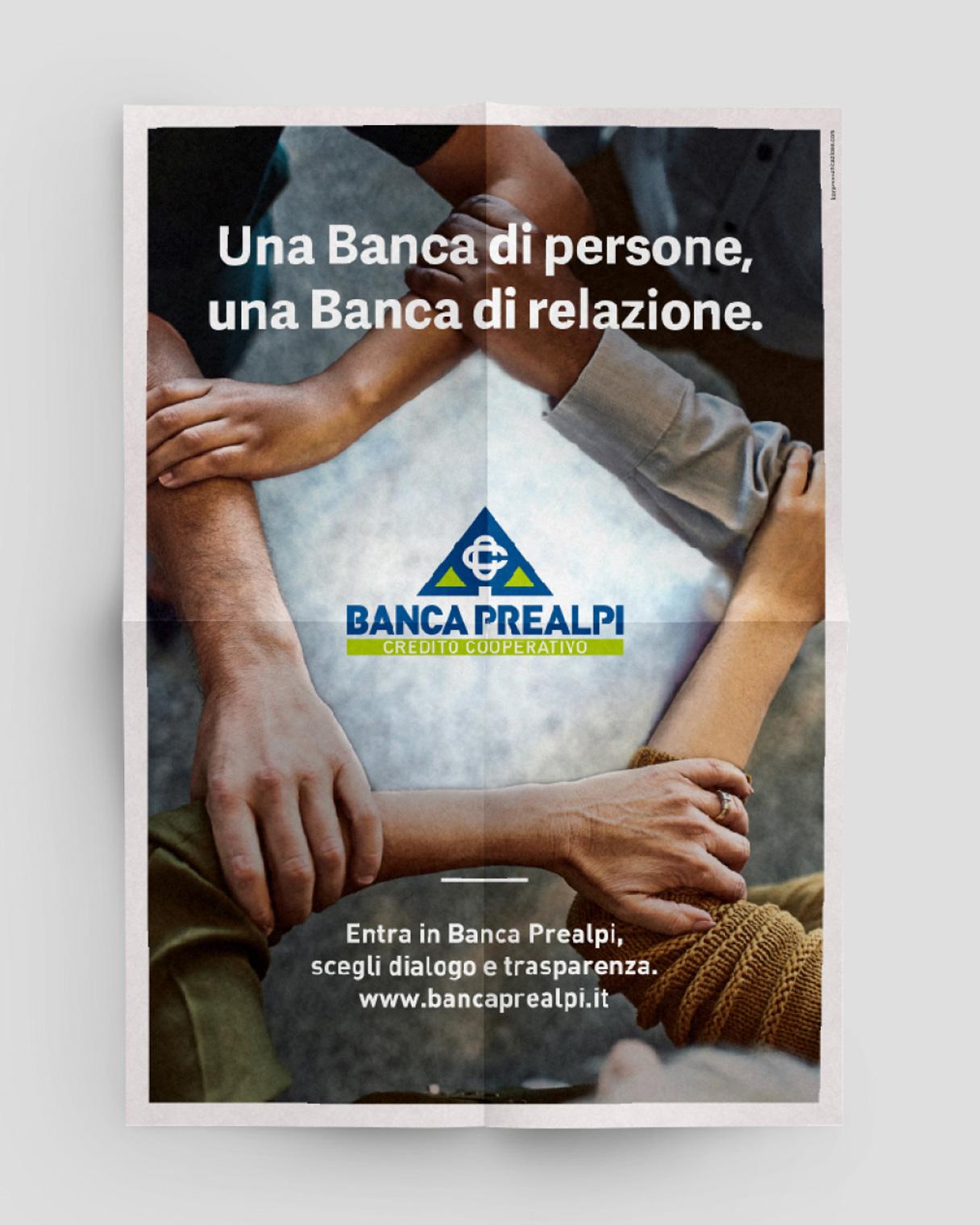 Ideazione campagne pubblicitarie poster Banca Prealpi SanBiagio | Kora Comunicazione
