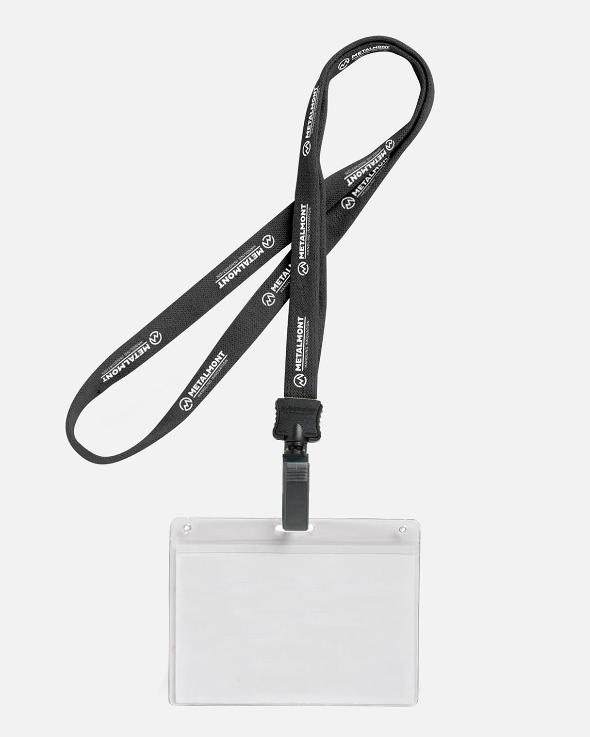 Progettazione grafica gadget neckstrap Metalmont | Kora Comunicazione