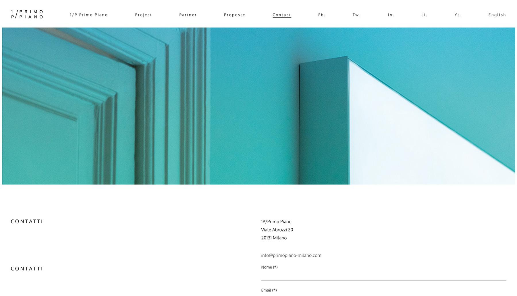 Progettazione sito 1P/Primo Piano | Kora Comunicazione