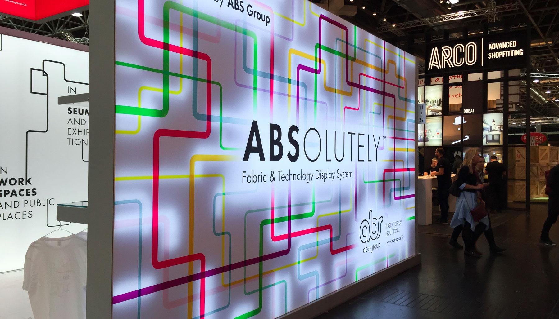 Progettazione grafica stand ABS Group | Kora Comunicazione
