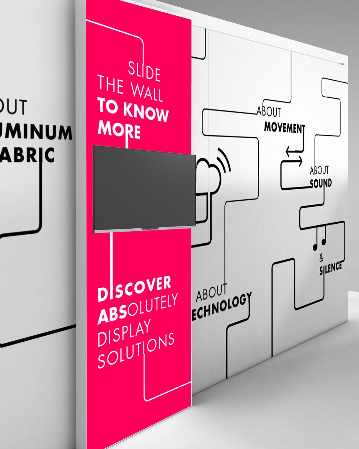 Progettazione grafica stand scorrevole ABS Group | Kora Comunicazione