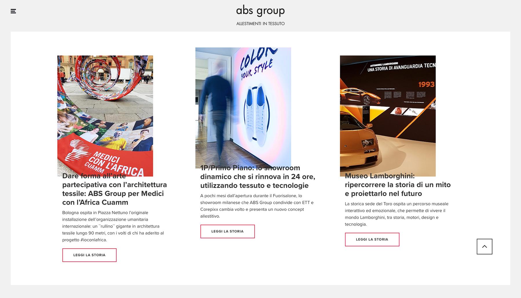 Web identity sito ABS Group | Kora Comunicazione